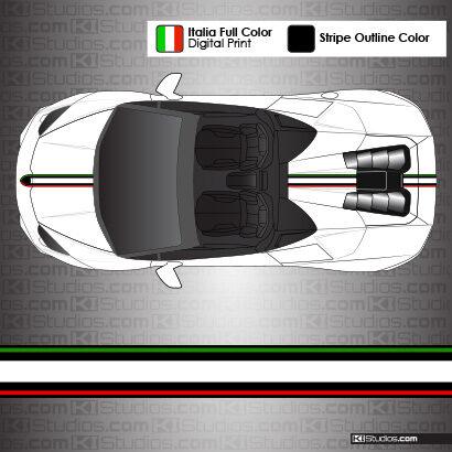 Lamborghini Huracan Spyder Stripe 004 Black Outline