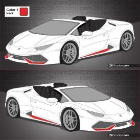 Lamborghini Huracan Spyder Stripe Kit 007 Accents