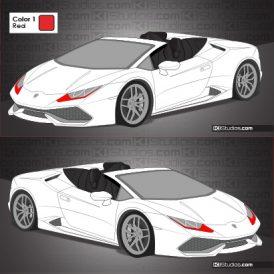 Lamborghini Huracan Spyder Stripe Kit 008
