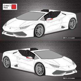 Lamborghini Huracan Spyder Stripe Kit 009