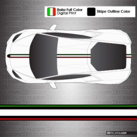 Lamborghini Huracan Stripe Kit 004 - Black Outlines Option