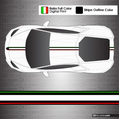Lamborghini Huracan Stripe Kit 004 - Black Outlines Option