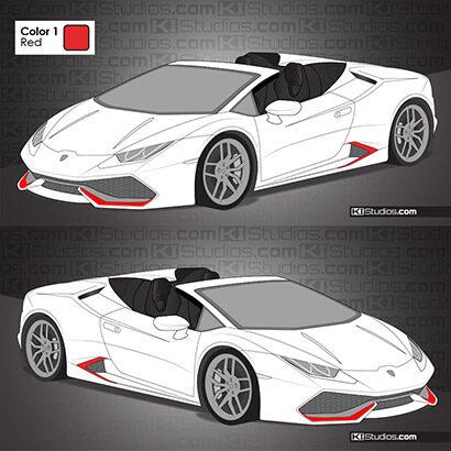 Lamborghini Huracan Spyder Stripe Kit 006 - Accents by KI Studios.