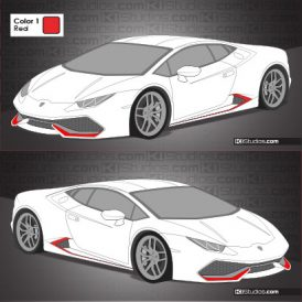 Lamborghini Huracan Stripe Kit 006 Accents