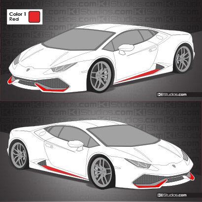 Lamborghini Huracan Stripe Kit 007