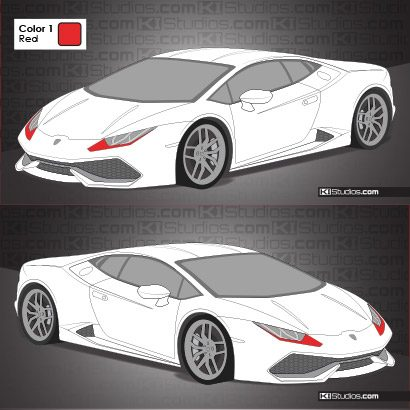 Lamborghini Huracan Stripe Kit 008 Accents