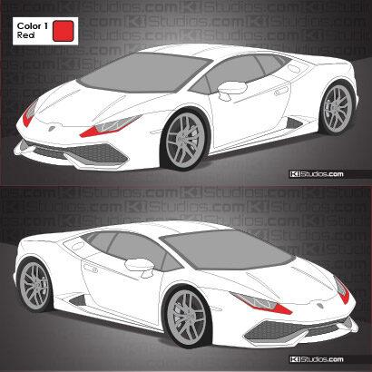 Lamborghini Huracan Stripe Kit 008 Accents