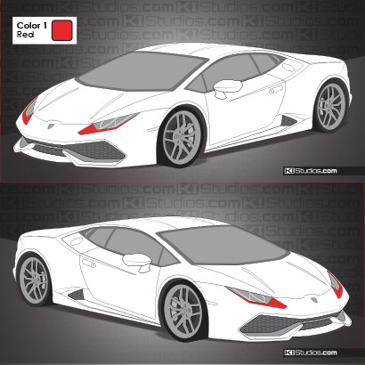 Lamborghini Huracan Headlight Accent Decals Ki Studios