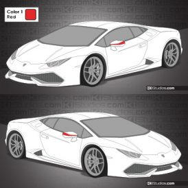 Lamborghini Huracan Stripe Kit 009 Accents