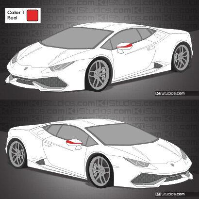 Lamborghini Huracan Stripe Kit 009 Accents