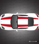 Porsche 987 Cayman 911R Stripe Kit - Single Color