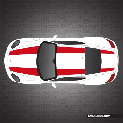 Porsche 987 Cayman 911R Stripe Kit - Single Color
