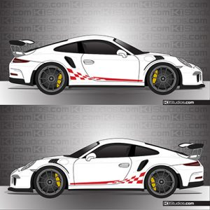 Porsche 991 GT3 RS Stripe Kit 002