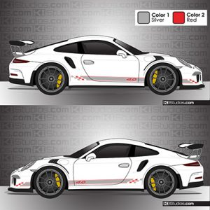 Porsche 991 GT3 RS Stripes with Checkers - KI Studios