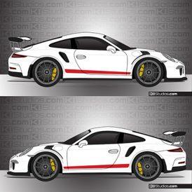 Porsche 991 GT3 RS Simple Stripes