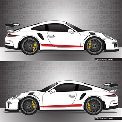 Porsche 991 GT3 RS Simple Stripes