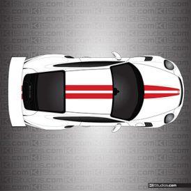 Porsche 991 GT3 RS Dual Racing Stripes - KI Studios