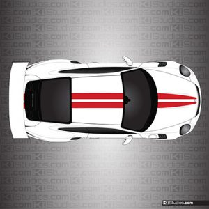 Porsche 991 GT3 RS Dual Racing Stripes - KI Studios