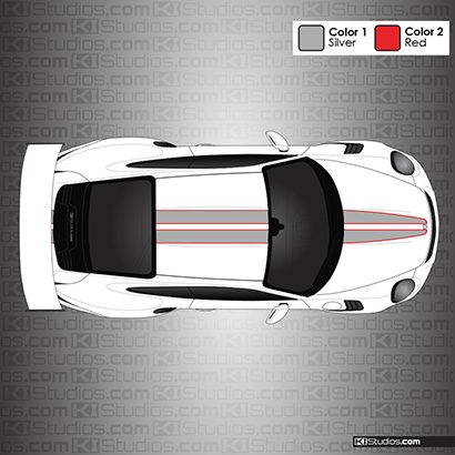 Porsche Racing Stripes for the 991 GT3 RS - KI Studios