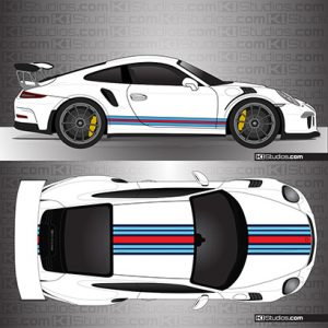 Porsche 991 GT3 RS Martini Porsche Style Stripes