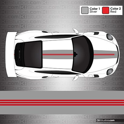 Bespoke Porsche 991 GT3 RS Stripe Kit 010 by KI Studios