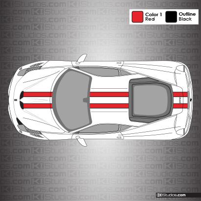 Ferrari 458 Speciale Stripe Kit 001