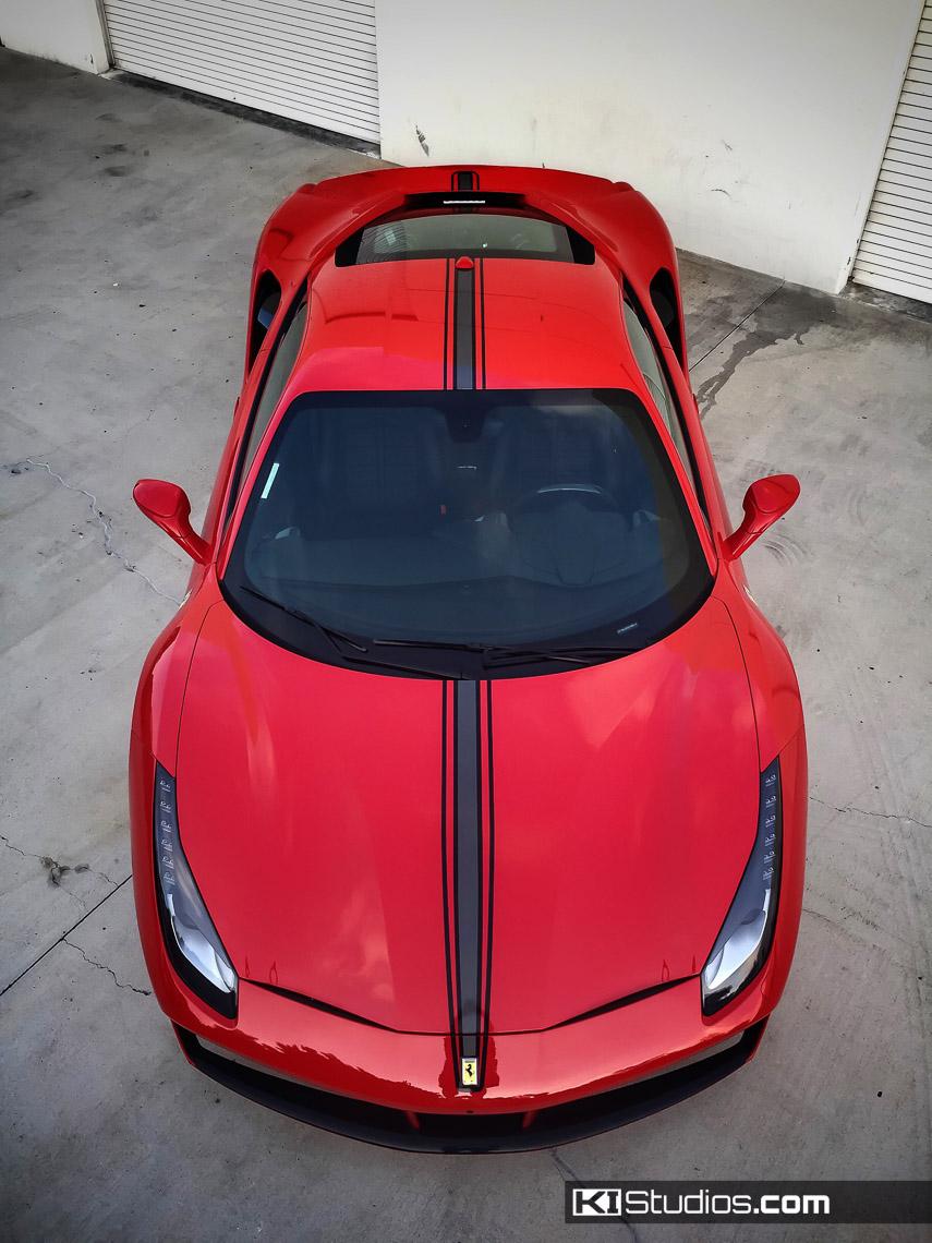 Ki Studios Ferrari 488 Gtb Triple 16m Two Color Stripe