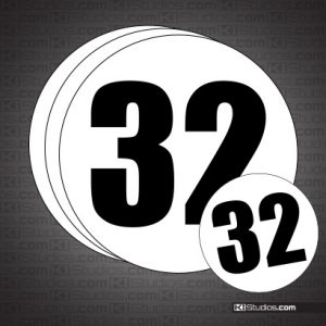 Traditional Gumball Racing Numbers