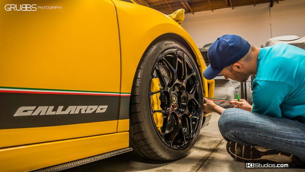 JMFP Lamborghini Gallardo Side Stripes Installation