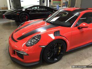 Porsche 991 GT3 RS with Porsche 911 R Stripes