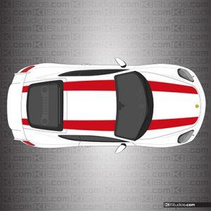 Porsche 981 Cayman GT4 911R Stripes - Single Color