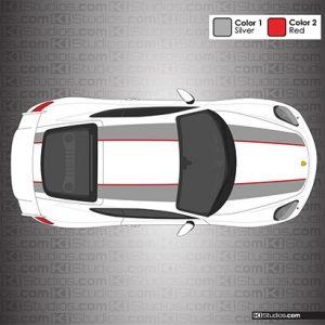 Porsche 981 Cayman GT4 911R Stripes Dual Color