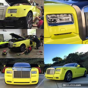 Rolls-Royce Drop Top Color Change Bright