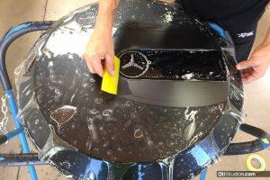 Wrapping Mercedes G-Wagon Spare Tire Cover - KI Studios