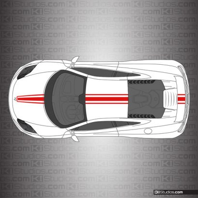 McLaren MP4-12C Stripe Kit 002 Single Color