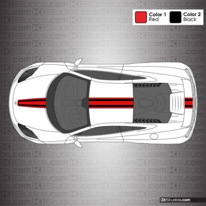 McLaren MP4-12C Stripe Kit 003 Dual Color