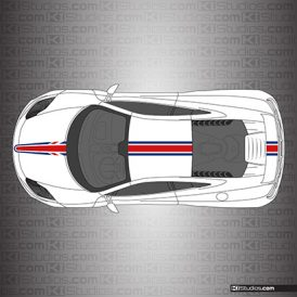 McLaren MP4-12C Union Jack Stripes - Stripe Kit 004