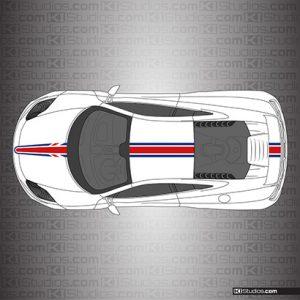 McLaren MP4-12C Union Jack Stripes - Stripe Kit 004