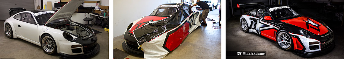 Blackstar Porsche Wrap Process