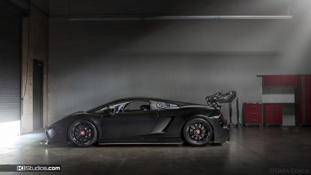 Lamborghini Gallardo Super Trofeo Black Color Change Wrap - KI Studios