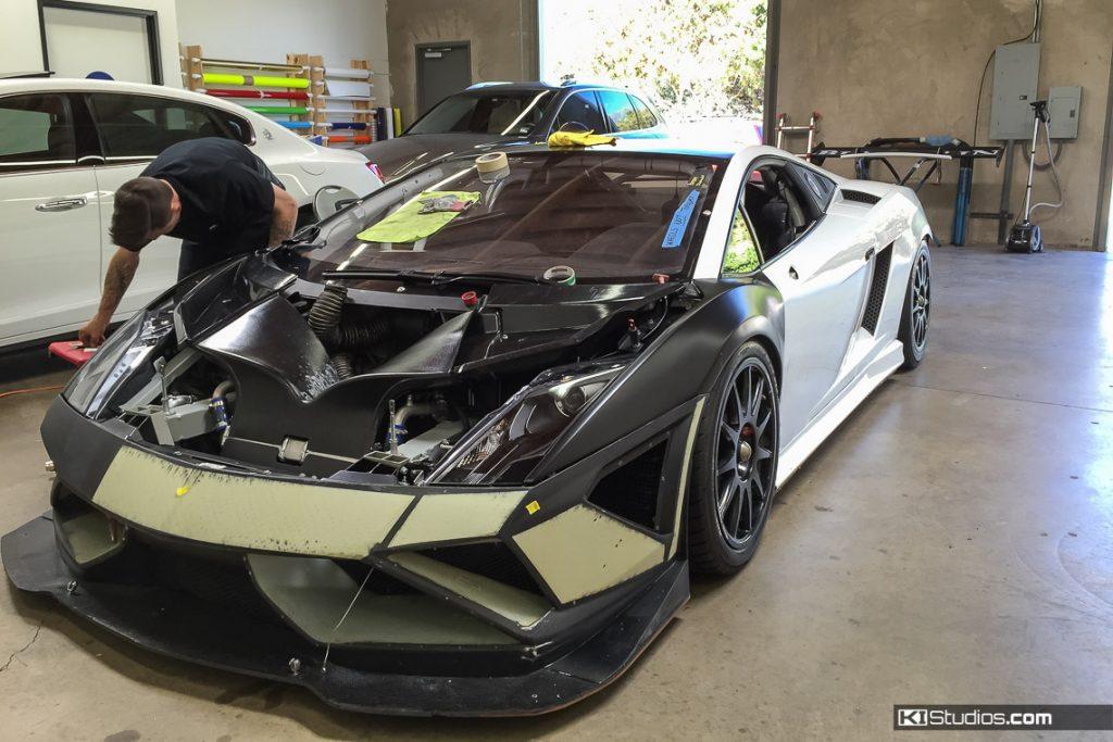Gallardo Super Trofeo Black Wrap Process - KI Studios