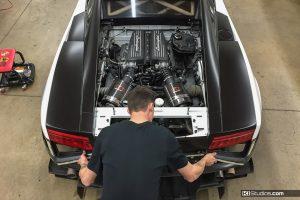 Lamborghini Gallardo Super Trofeo Color Change Prep