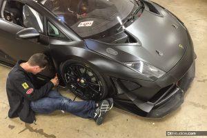Lamborghini Gallardo Super Trofeo Color Change to Black