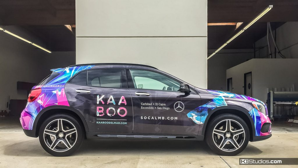 Kaaboo Del Mar Mercedes-Benz GLA 250 Commercial Wrap