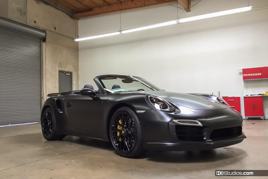 Matte Black Porsche 911 Turbo - KI Studios