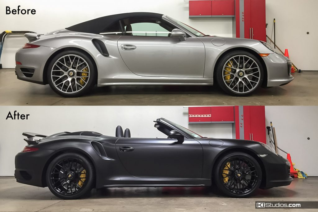 Porsche Car Wraps Before and After - KI Studios