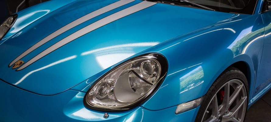 Porsche Headlight Trim Blackout Kit Installation
