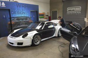 Porsche 911 GT3 Cup Car Wrap Process 1