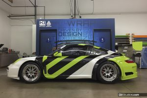 Avery Dennison Porsche 911 GT3 Cup Car Being Wrapped