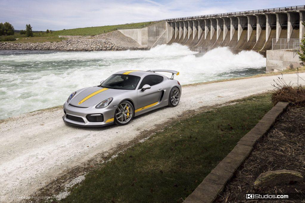 Grey Porsche Cayman GT4